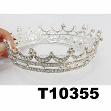 big adult rhinestone crystal full pageant tiaras round pageant crowns
