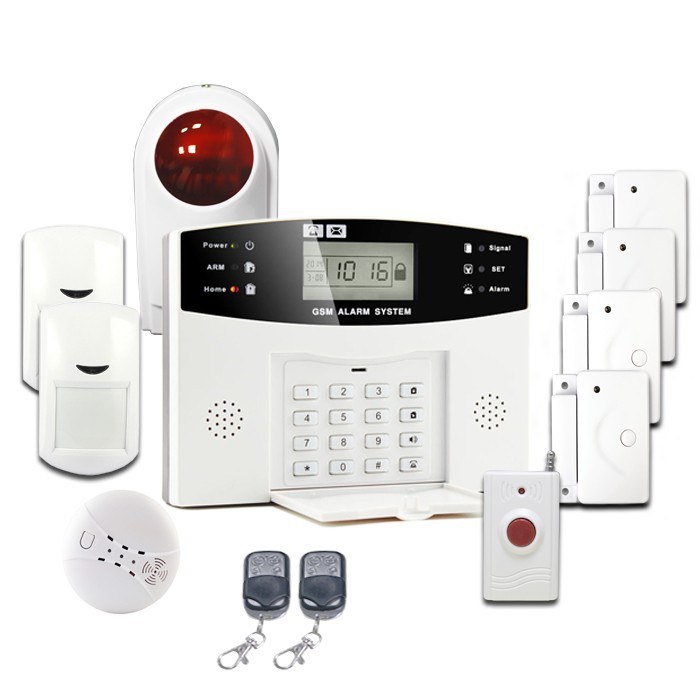99 wireless defense zones home wireless GSM alarm system, home security alarm control panel & alarme maison sans fil