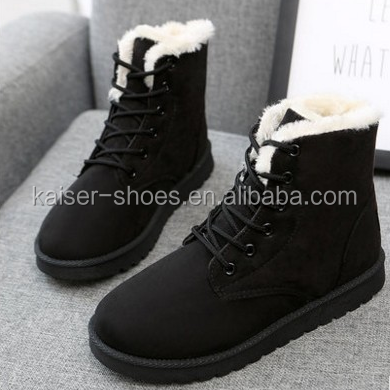 MN16113008 low price lady round toe martin boot lace flat shoe warm winter shoes