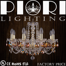 Delicate 8 Lights Golden Decorative China Led Chandeliers
