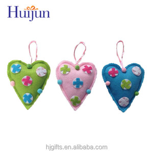 heart-shaped hanging decorations in christmas