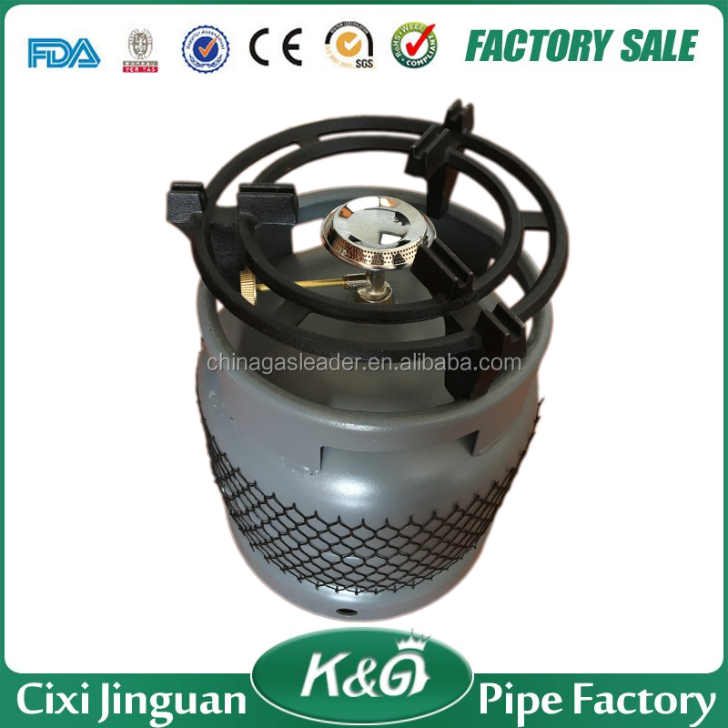 Lpg Gas Cylinder With Single Burner
