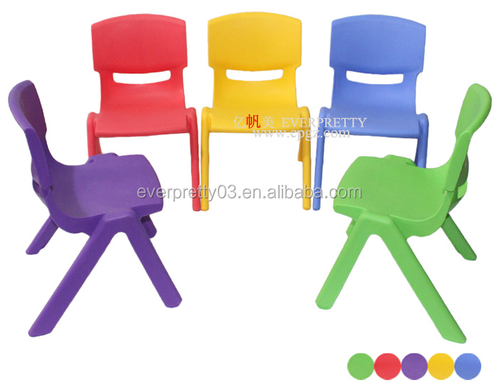 Small Education Furniture Children Stacking Ergonomic Plastic Chairs