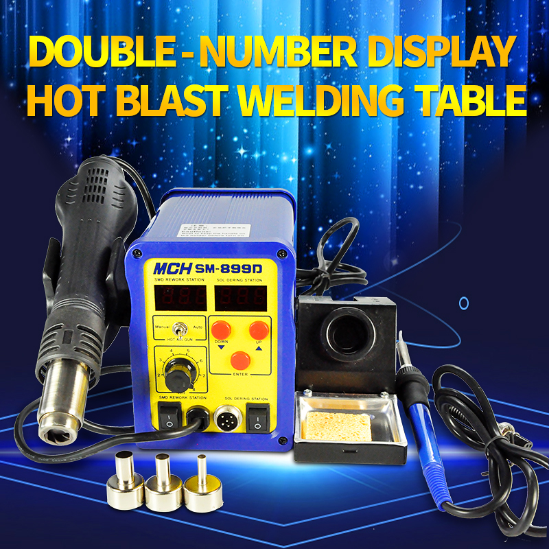 micro-processor PID program control technology Antastics soldering station 450 temp SMD model rework iron station SM-899D