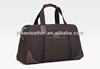 Fashion brouwn canvas travel bag with leather trimming on hot sell
