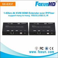 USB 2.0 over IP extension &KVM Extender transmit over single Cat5e/6 cable up to 120m 4 bits switch for 16 stream channel select