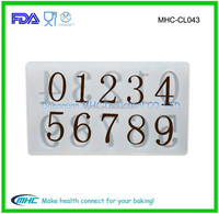 Numbers Silicon Chocolate bar transfer Mold tray