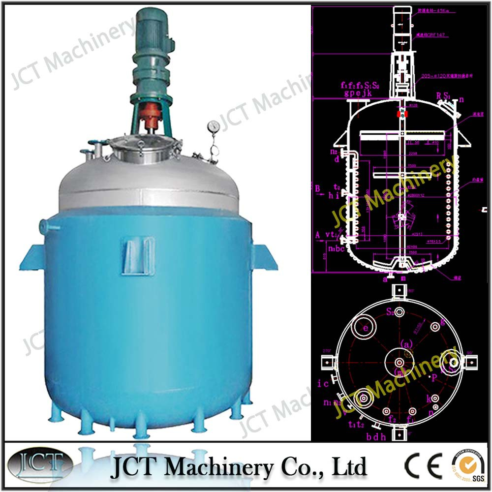 continuous stirred tank reactor with jacket heating system