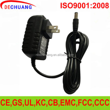 switching plug adapter 12v dc supply ul wall mount 12v 1a ac/dc power adapter