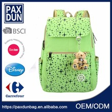 Fashion Hot Sell multi color Teenage School Bag For College Girl