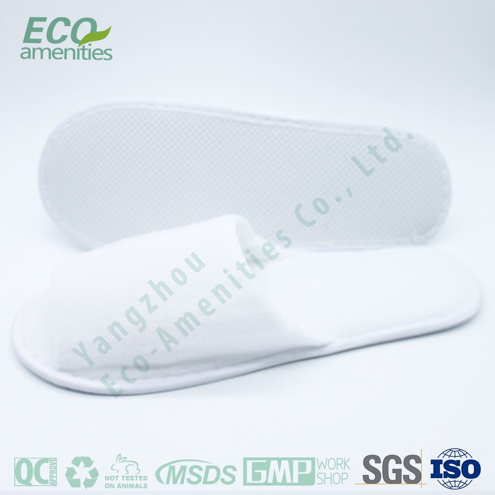 2015 Promotional Paper Sachet hotel bathroom slipper in velour is hotel slippers