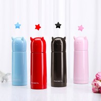 Valueder OEM double wall 350ml thermal stainless steel water bottle with screw on loop cap