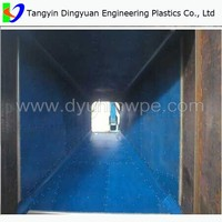 factory Customized Wear and impact resistant UHMW-PE blue Chute large Liners