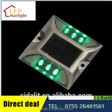 Promotional brand new IP68 high quality aluminum 6 LED solar road marker light