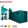 Container Sandblasting Room with abrasive recovery system