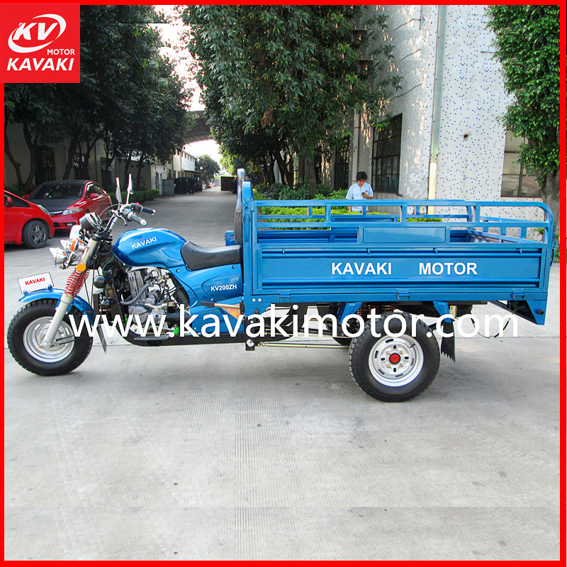 High Quality Powerful Water Cool Engine Three Wheel Motorcycle China Cargo Tricycle