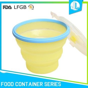 Leakproof foldable cheap home silicone kitchen food storage