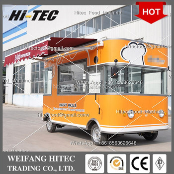 Deluxe Edition Environmental Protected Electric Drive Mobile Food Cart for Multifunctions