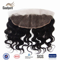 Hot selling human hair closure free partting virgin brazilian lace front closure