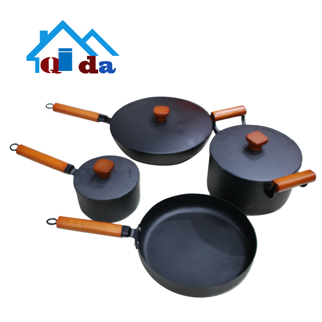 kitchenware china  Environmental protection   Iron cookware sets  Multi-functional milk and  frying pan