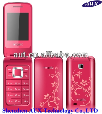 Dual sim quad band flip mobile phone H3520 suppport TV