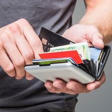 2- in- 1 iPower Aluminium RFID <strong>wallet</strong> protecting your IDs from theft