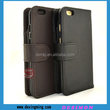 2015 top quality leather case for iphone 6plus with car slot
