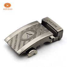 Benbao custom name metal italian automatic auto lock belt buckle for men's belt