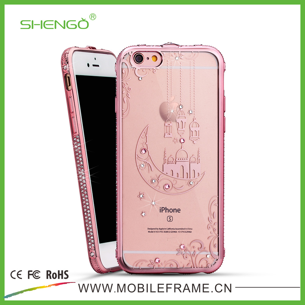 SHENGO Wholesale Price Luxury Bling TPU 2D Sublimation Phone Case for iphone 6/6plus