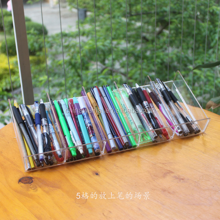 Clear  Acrylic Stationery Shop Display Rack