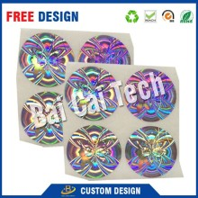 Rainbow secure genuine make customized printable warranty hologram sticker