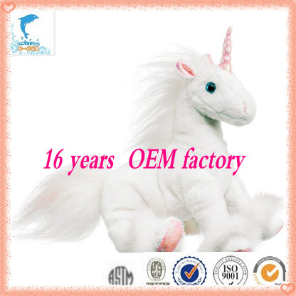 hot selling cheap wholesale plush doll baby white horse toy