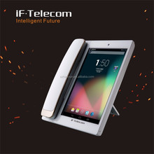 Hot sale video voip android sip phone with sim card slot quad core 8 inch touch screen android 3g/wify desktop ip phone