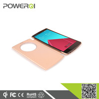 2015 Chinese factory supply qi wireless charger receiver flip case for LG G4 OEM available