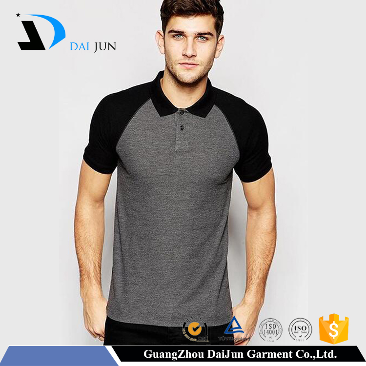 Daijun oem mens 100% cotton high quality slim fit gray blank office polo jacket uniform