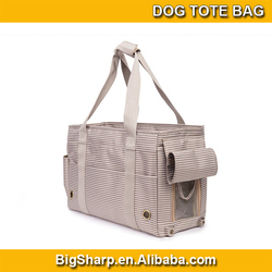 wholesale high quality portable carrier sided shoulder sling stripe dog tote bag