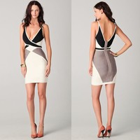 S60697A sexy backless new fashion sundress with zipper