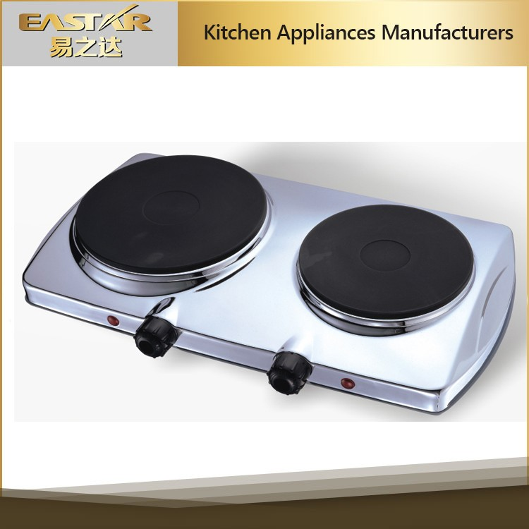 Kitchen applience 2 burner solar electric stove built-in countertop hot plates , electric cooker 230v electric stove