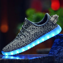 2017 Newest Fashion Men Sport 350 Cool Sneaker Light Shoes Led Shoes
