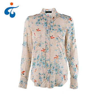 Good quality oem fancy eco-friendly female printing shirt