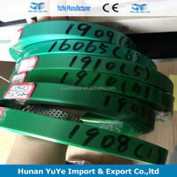 hot selling 3/4 inch 2220 green embossed plastic strapping for cotton bale