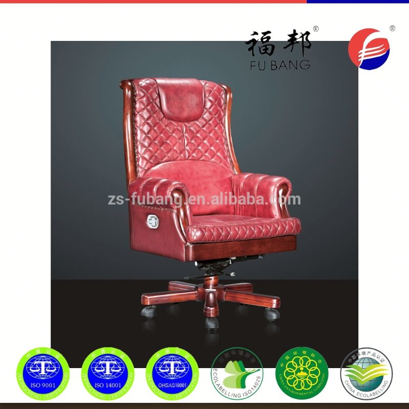 New italy design antique wood industrial leather office chair wooden parts
