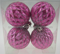 2015 new promotional peach red hand painting Chrismas bauble