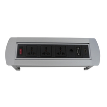 ZeShan ZSPM-5 manual flip up desktop socket with universal power and HDMI