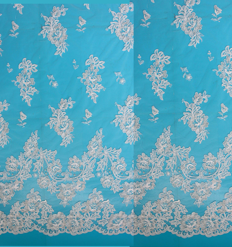 China supplier of new chemical embroidery bridal laces fabrics