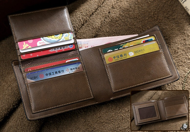 Business Man Real Leather Wallets Popular in America Market
