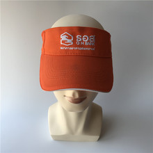 Custom cheap embroidered golf football running hockey sun visor cap