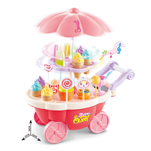 Plastic kitchen toy mini ice cream cart toy HC394494
