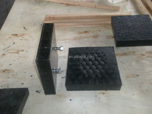 Abrasion Resistant Vulcanized Rubber Ceramic Wear Panel Slabs