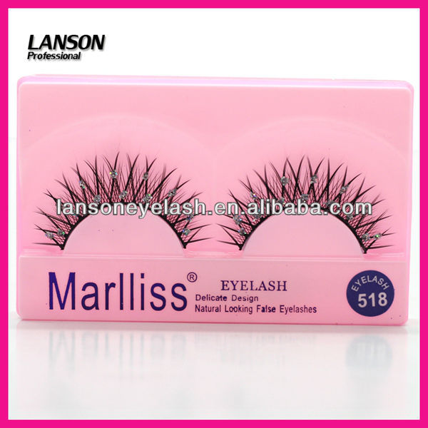 women wholesale fale eyelashes hot seller diamond false eyelashes 518#